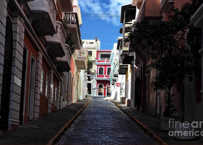 San Juan Alley Greeting Card featuring the photograph San Juan Alley by John Rizzuto