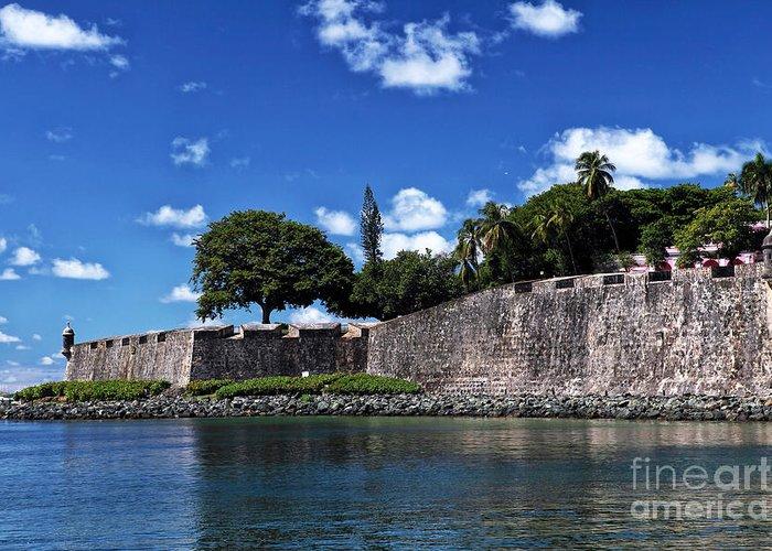 San Juan Wall Greeting Card featuring the photograph San Juan Wall by John Rizzuto