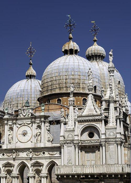 Venice Greeting Card featuring the photograph San Marco Basilica. by Fernando Barozza