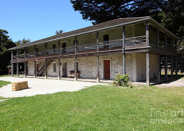 Bayarea Greeting Card featuring the photograph Sanchez Adobe Pacifica California 5d22647 by Wingsdomain Art and Photography