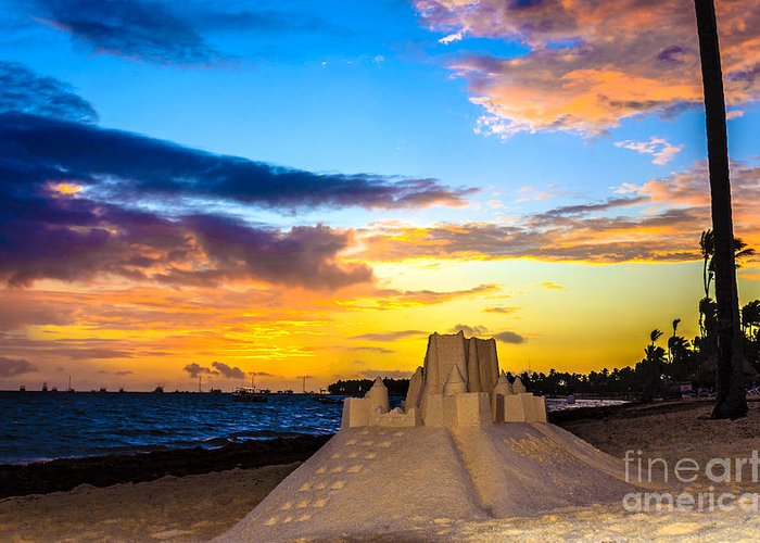 Sea Landscape Greeting Card featuring the photograph Sand Castle 1 by Viktor Birkus