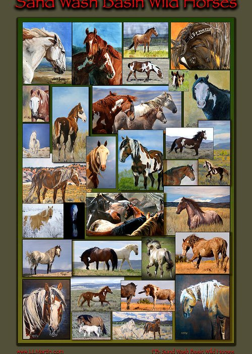 Mustangs Greeting Card featuring the photograph Sand Wash Basin Wild Horses by Lourie Zipf