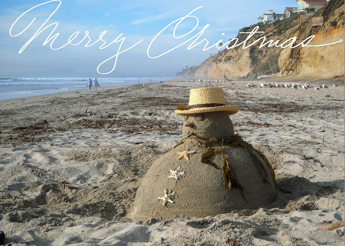 Christmas At Moonlight Beach Greeting Cards