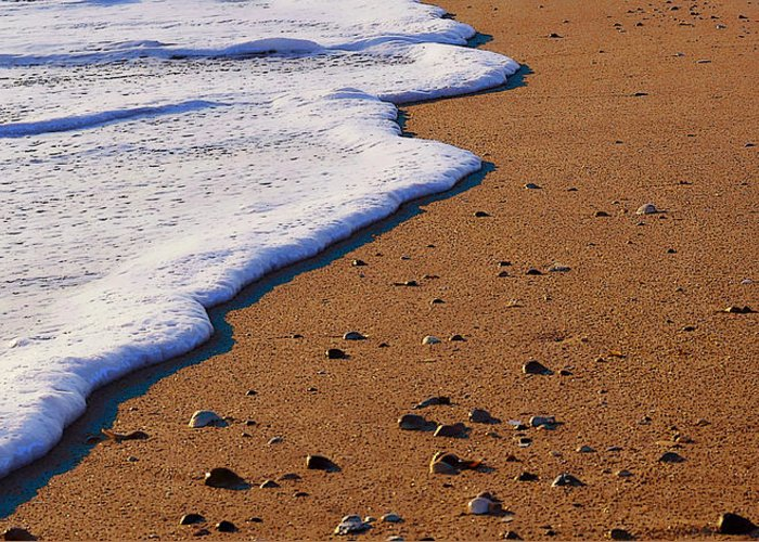 Foam Greeting Card featuring the photograph Sandy Foam by Jerry Hart