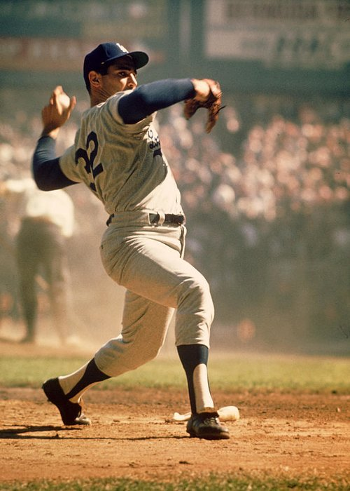 Marvin Newman Greeting Card featuring the photograph Sandy Koufax by Retro Images Archive