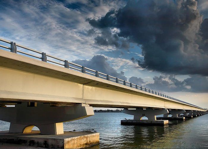 Road Greeting Card featuring the photograph Sanibel Causeway I by Steven Ainsworth