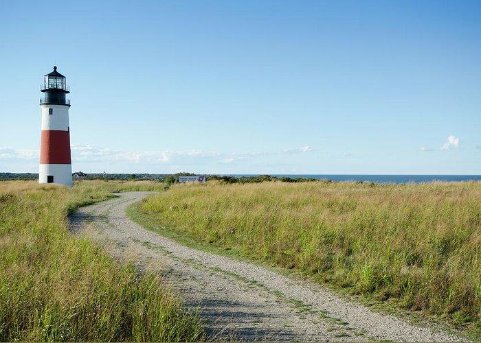 Scenics Greeting Card featuring the photograph Sankaty Head Lighthouse, Nantucket by Nine Ok