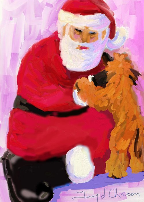 Santa Claus Greeting Card featuring the digital art Santa Baby by Terry Chacon