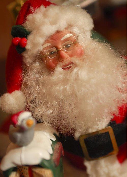 Santa Claus Greeting Card featuring the photograph Santa Claus - Antique Ornament - 11 by Jill Reger