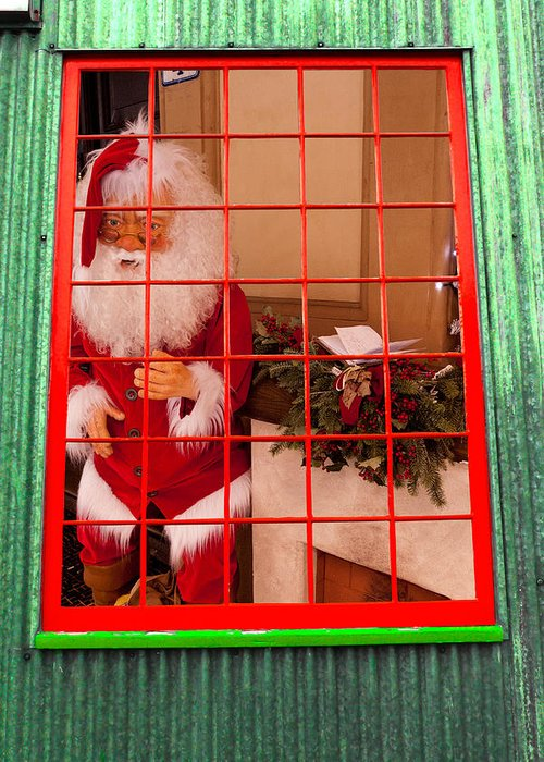 Window Greeting Card featuring the photograph Santa Clause by Rae Tucker