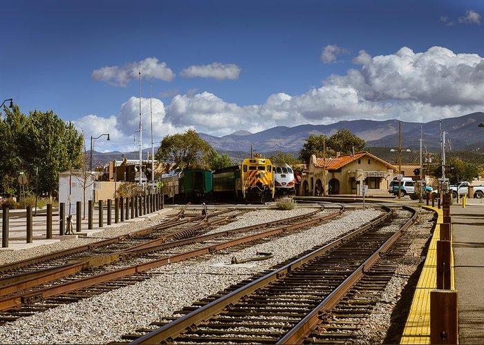 Train Greeting Card featuring the photograph Santa Fe Rail Road by John Johnson