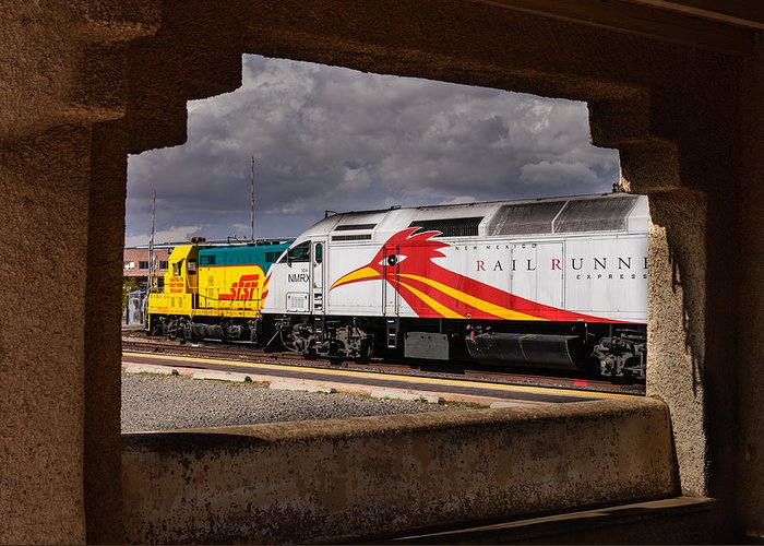 Santa Fe Greeting Card featuring the photograph Santa Fe Train by John Johnson