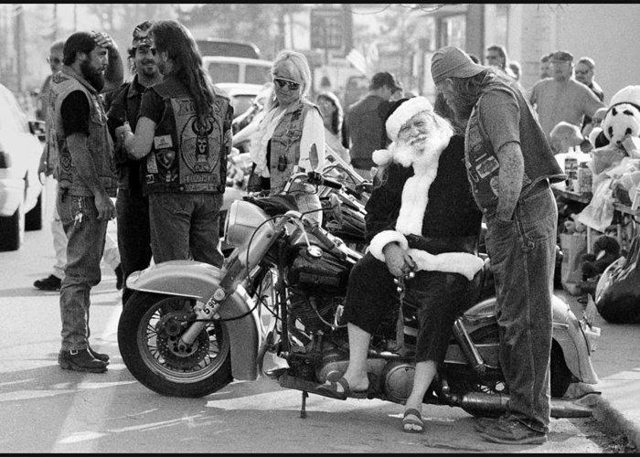 Santa Greeting Card featuring the photograph Santa Helpers by Doug Barber