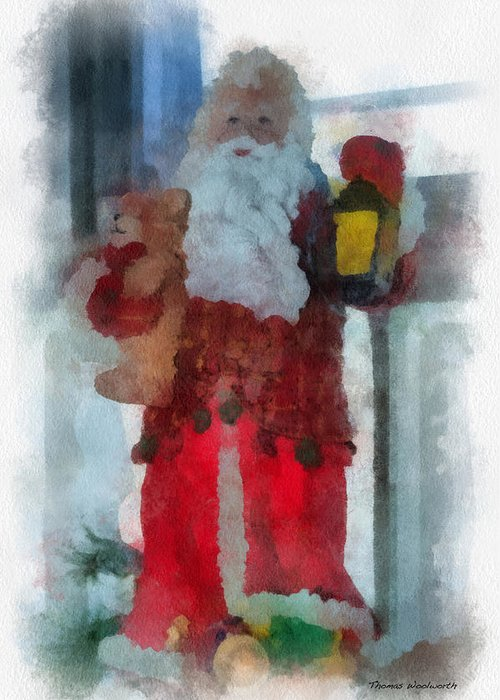 Christmas Greeting Card featuring the photograph Santa Photo Art 14 by Thomas Woolworth