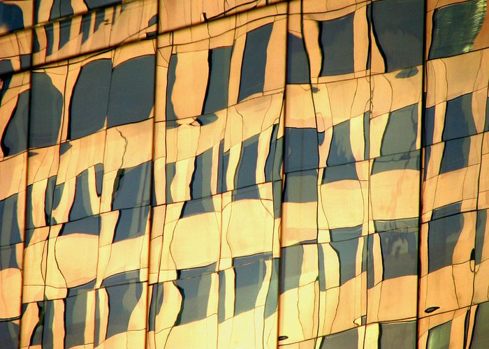Abstract Greeting Card featuring the photograph Santiago Reflection II by Rick Locke