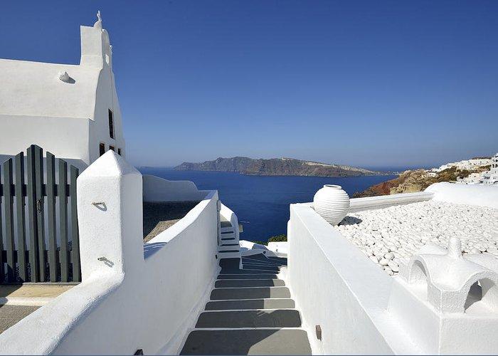 Aegean Greeting Card featuring the photograph Santorini by Jan Sieminski