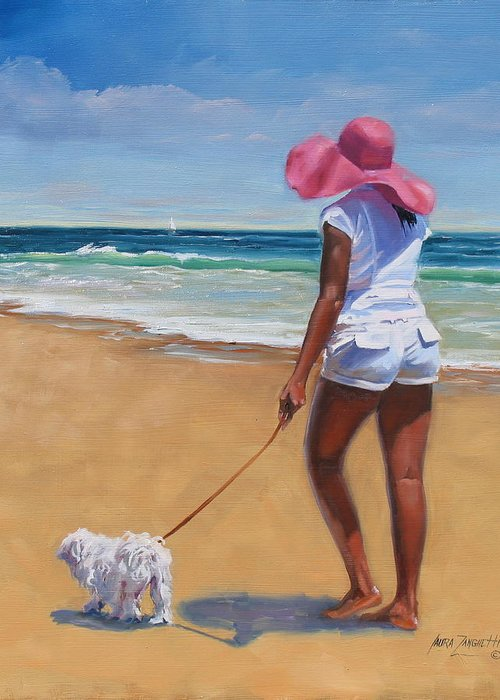 Dogs On Beach Greeting Cards