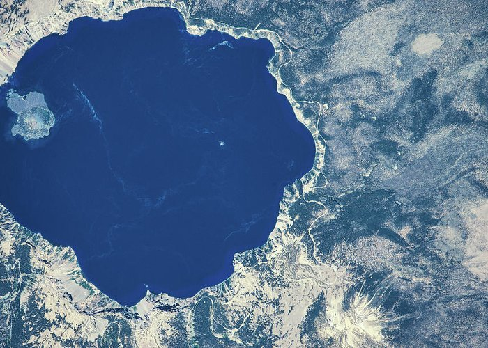 Crater Lake View Greeting Cards