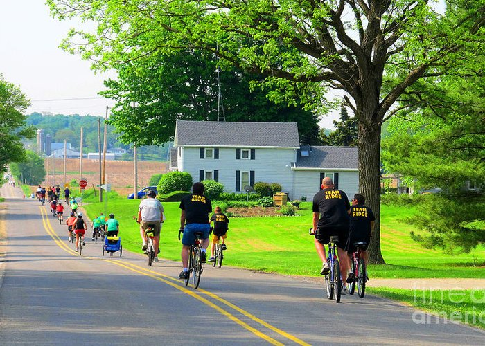 Bike Greeting Card featuring the photograph Saturday Bike Ride by Tina M Wenger