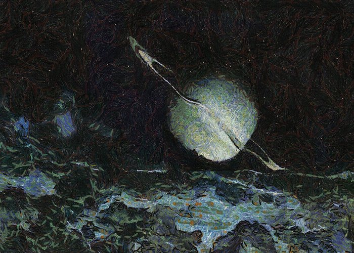 Planet Greeting Card featuring the painting Saturn-y by Ayse Deniz