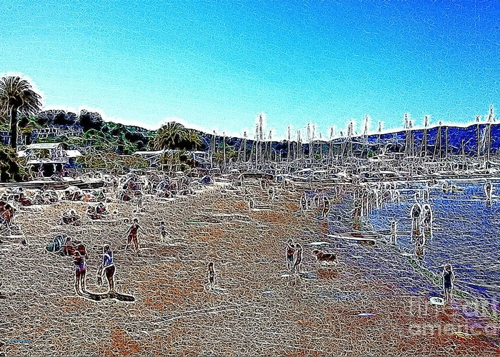 Sausalito Greeting Card featuring the photograph Sausalito Beach Sausalito California 5d22696 Artwork by Wingsdomain Art and Photography