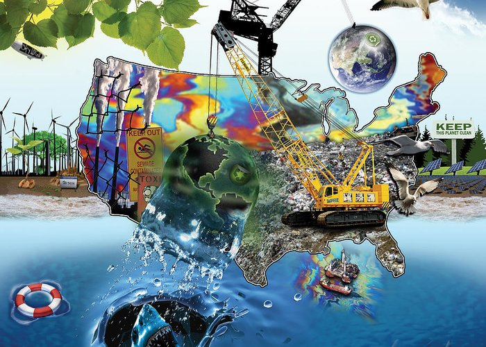 Restore Greeting Card featuring the digital art Save The World Recycle by Bryan Fleming