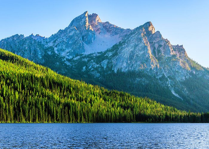 Scenics Greeting Card featuring the photograph Sawtooth Mountains And Stanley Lake by Dszc