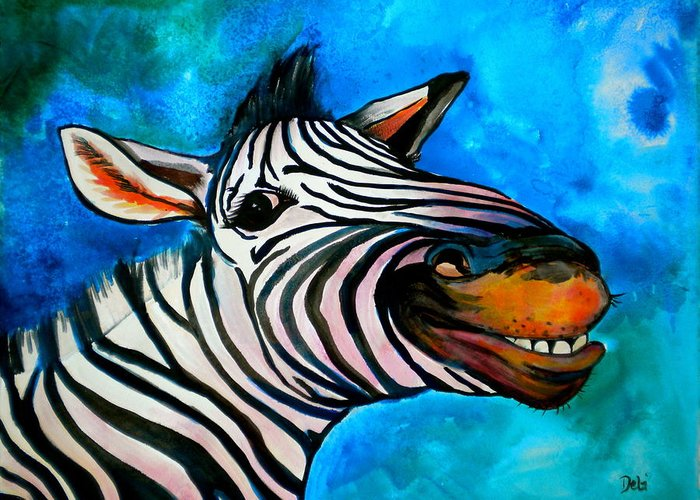Say Cheese Greeting Card featuring the painting Say Cheese by Debi Starr