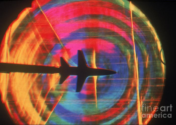 Shock Wave Greeting Card featuring the photograph Schlieren Image Of Aircraft by Garry Settles