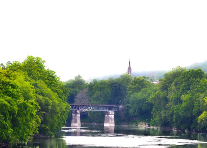 Schuylkill Greeting Card featuring the photograph Schuylkill River At Manayunk Philadelphia by Bill Cannon