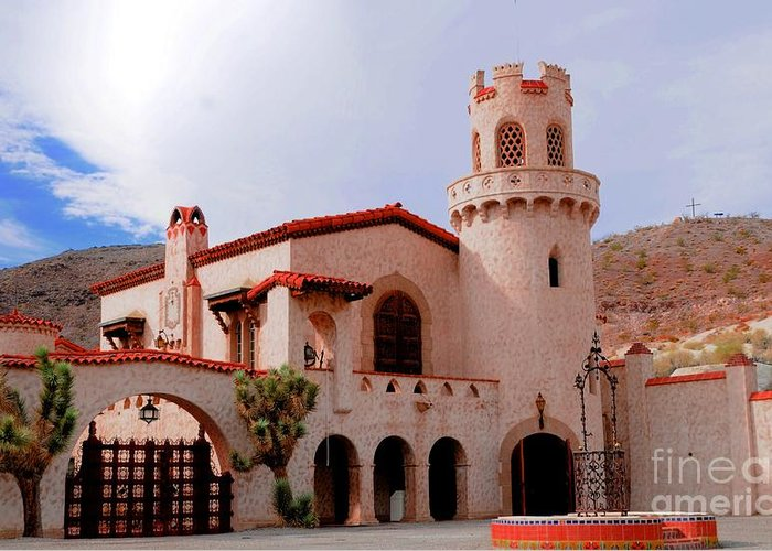 Scotty's Castle Greeting Card featuring the photograph Scotty's Castle by Kathleen Struckle