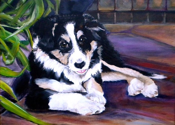 Scout Greeting Card featuring the painting Scout by Debi Starr