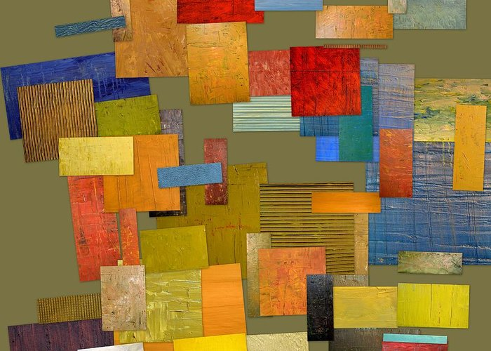 Textural Greeting Card featuring the painting Scrambled Eggs Ll by Michelle Calkins