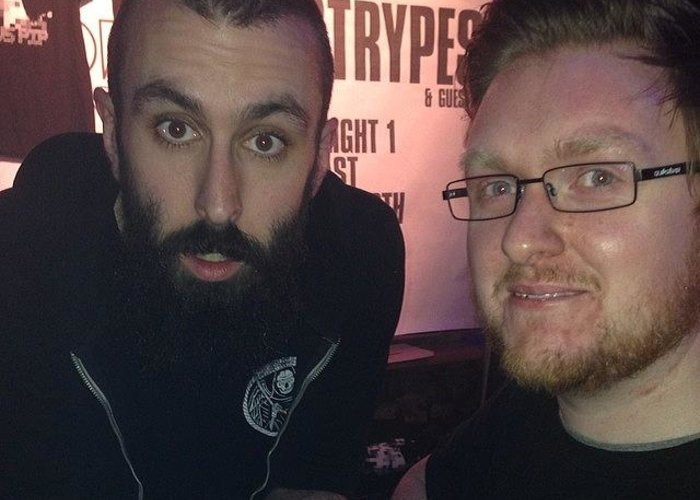 Greeting Card featuring the photograph Scroobius Pip Yo! by Neil Gray
