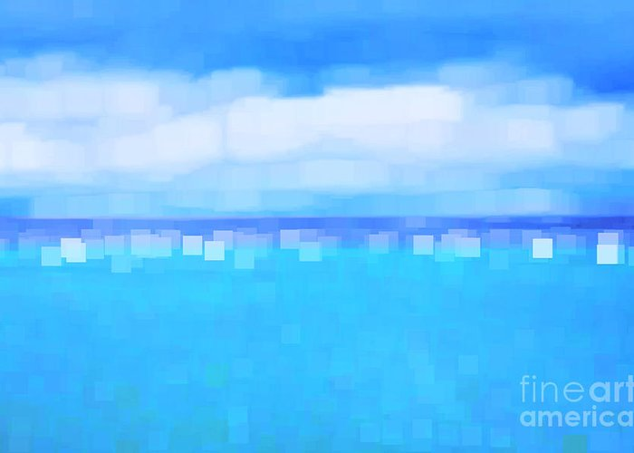 Abstract Greeting Card featuring the photograph Sea And Sky Abstract by Natalie Kinnear
