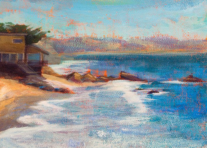 El Matador Greeting Card featuring the painting Sea Breeze by Athena Mantle