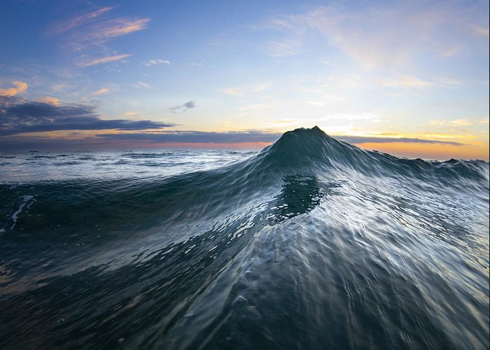 Wave Greeting Card featuring the photograph Sea Mountain by Sean Davey