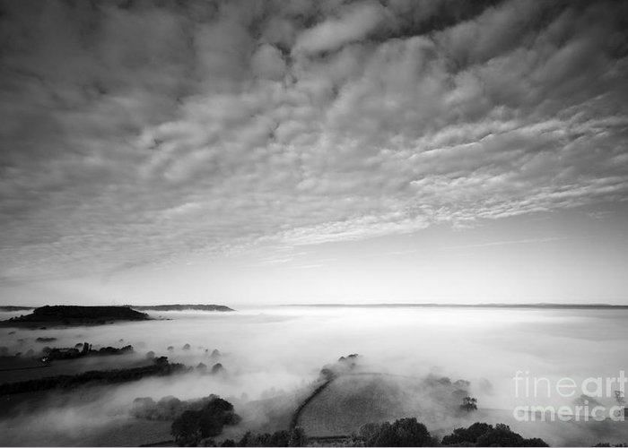 Cam Long Down Greeting Card featuring the photograph Sea Of Fog by Anne Gilbert