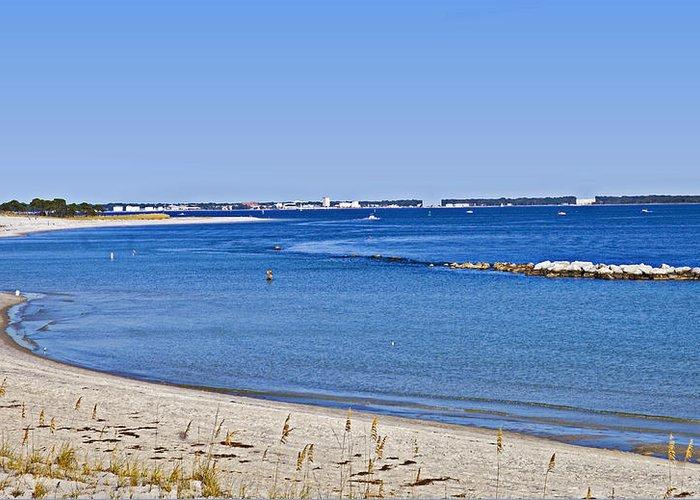 Coastline Greeting Card featuring the photograph Sea Side Area by Susan Leggett
