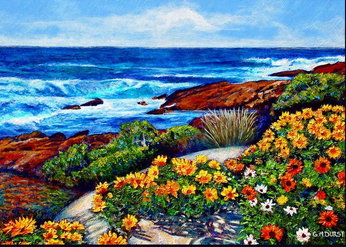Seascape Greeting Card featuring the painting Sea Side Spring by Michael Durst