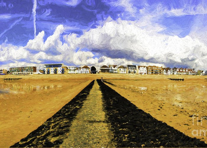 Southend On Sea Greeting Card featuring the photograph Seafront at Southend on Sea by Sheila Smart Fine Art Photography