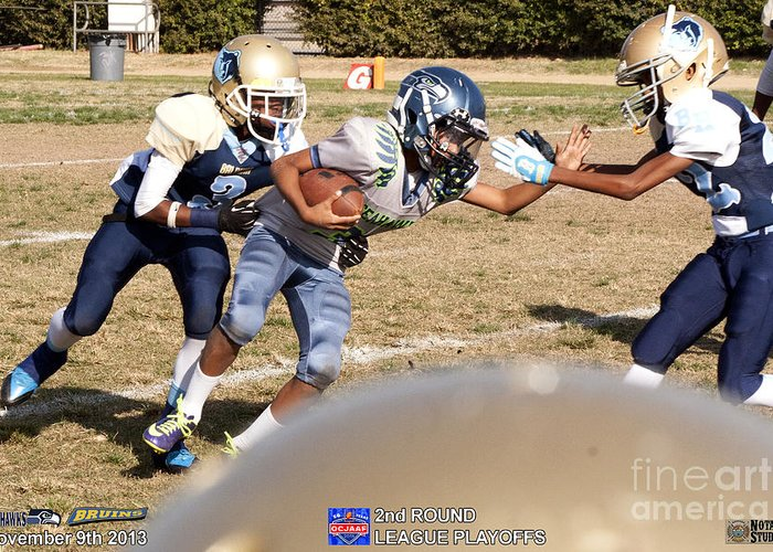 Greeting Card featuring the photograph Seahawks Vs Bruins 7985 by Notah Studios