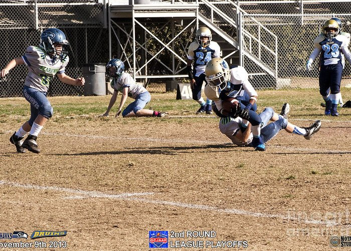 Greeting Card featuring the photograph Seahawks Vs Bruins 8014 by Notah Studios