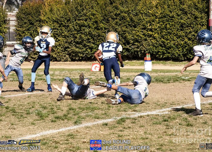 Greeting Card featuring the photograph Seahawks Vs Bruins 8268 by Notah Studios