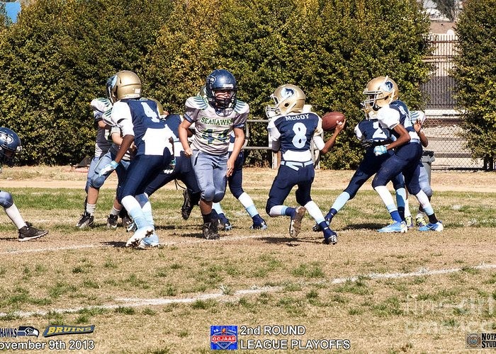 Greeting Card featuring the photograph Seahawks Vs Bruins 8277 by Notah Studios