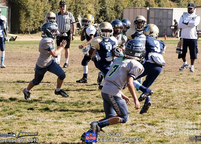 Greeting Card featuring the photograph Seahawks Vs Bruins 8322 by Notah Studios