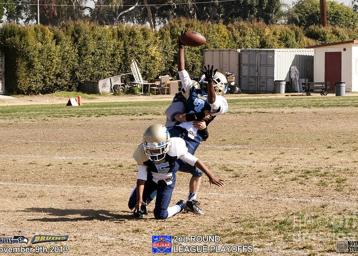 Greeting Card featuring the photograph Seahawks Vs Bruins 8340 by Notah Studios