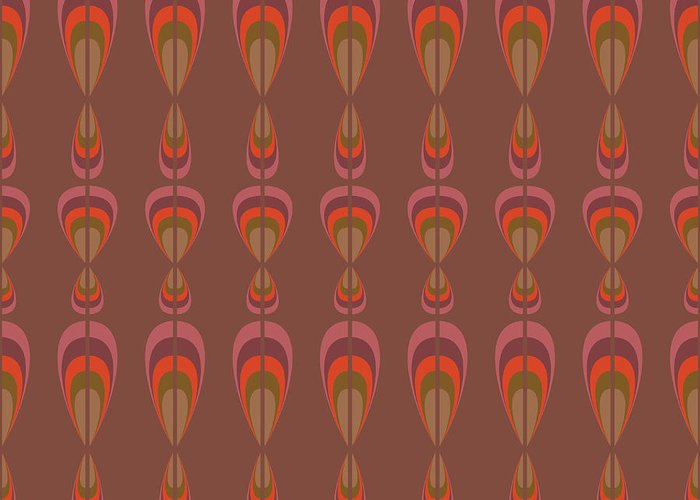 Upholstery Greeting Card featuring the digital art Seamless Geometric Vintage Wallpaper by Leszek Glasner