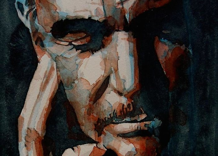 Sean Connery Greeting Card featuring the painting Sean Connery by Paul Lovering