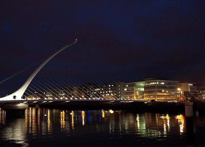Dublin Greeting Card featuring the photograph Sean Ocasey Bridge, Dublin by Leverstock
